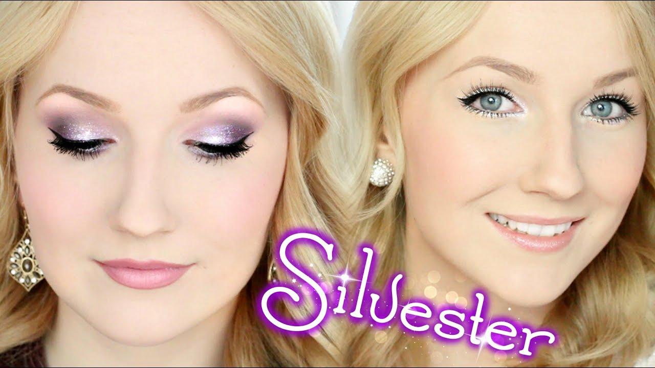 2 silvester makeup looks auff llig oder dezent youtube. Black Bedroom Furniture Sets. Home Design Ideas