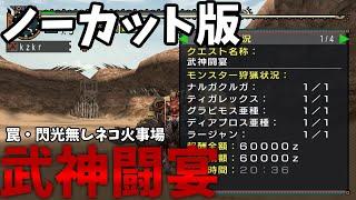 【ノーカット版】武神闘宴 猫火事場弓 罠・閃光玉無し【MHP2g】