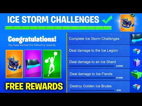 NEW FORTNITE ICE STORM CHALLENGES FREE REWARDS! - FREE GIFTS UNLOCKED (Fortnite Battle Royale)