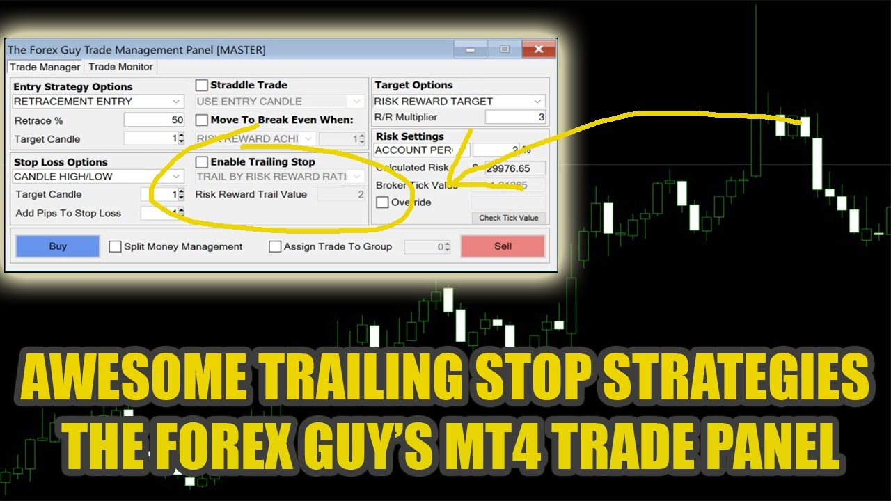 The Best Trailing Stop Tool Ever Made Trade Panel By The Forex