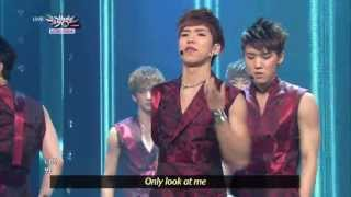 100% - Want U Back (2013.06.15) [Music Bank w/ Eng Lyrics]