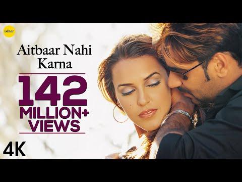 Aitbaar Nahi Karna - 4K Video | Qayamat | Ajay Devgan & Neha Dhupia | 90's Bollywood Romantic Song