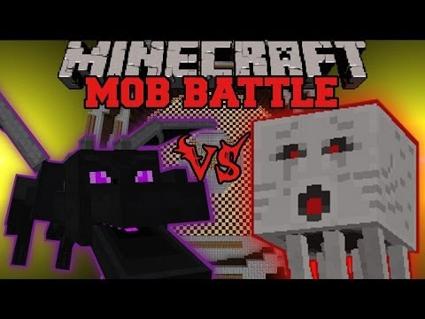 Thumbnail: ENDER DRAGON VS GHAST - Minecraft Mob Battles - Arena Battle