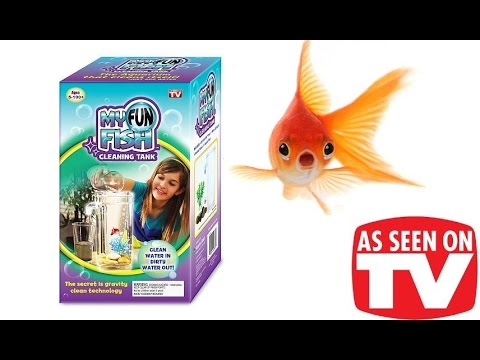 as seen on tv my fun fish cleaning tank half gallon aquarium unboxing review youtube. Black Bedroom Furniture Sets. Home Design Ideas