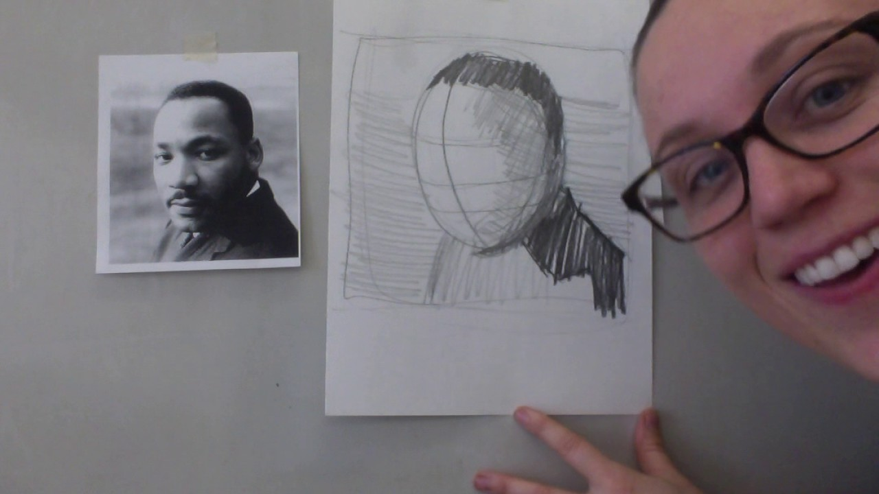 How to Draw Martin Luther King Jr.! - YouTube