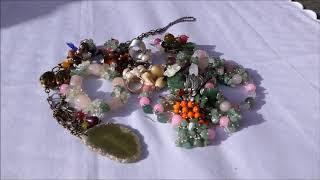 видео украшения из натуральных камней