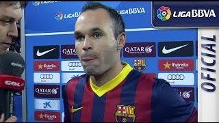 Entrevista a Iniesta tras el FC Barcelona (4-0) Granada CF - HD