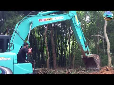 รถแบ็คโคร Excavator Kobelco sk140-8 Super Xm ถางป่ากับวันว่างๆ