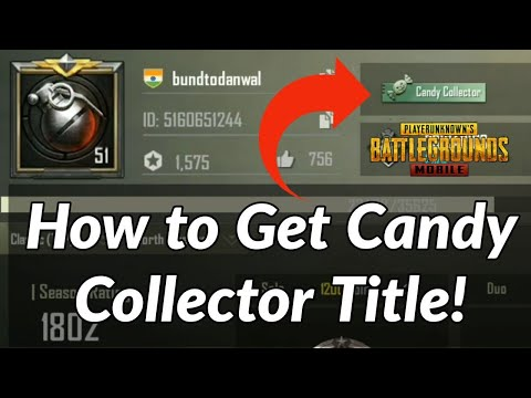 How to Get Candy Collector Title in PUBG Mobile Game | Halloween Event