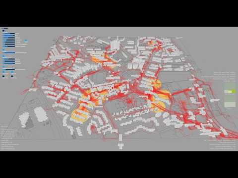 EmCity Agent based model - investigation of Singapore Ayer Rajah Expressway Area
