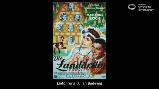 DIE LANDÄRZTIN  (BRD 1958): Vortrag von Julian Bodewig (Junger Filmclub Treppe 41)