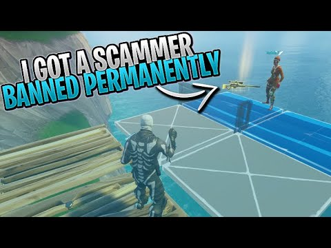 I Got A Scammer Banned By Epic Games Permanent! (Scammer Gets Scammed) Fortnite Save The World Pve