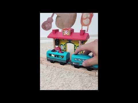 ❤️禮品苑❤️ [現貨] 木製城市積木交通36件軌道組 兒童玩具 木製玩具 益智玩具 兒童禮物 兒童聖誕禮物