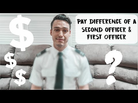 PAY DIFFERENCE BETWEEN AN AIRLINE SECOND OFFICER & FIRST OFFICER