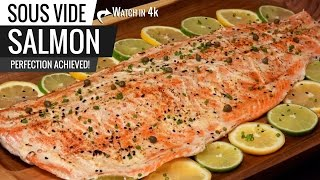 Sous Vide Salmon Perfection - How to cook the BEST SALMON ever!