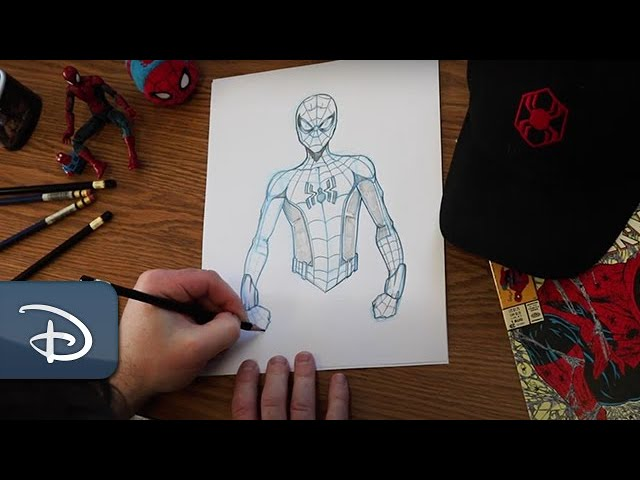 Learn to Draw Spider-Man at Home in Honor of National Super Hero Day | #DisneyMagicMoments
