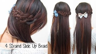 4 Strand Slide Up Braid l Cute Back- to-school Hairstyles