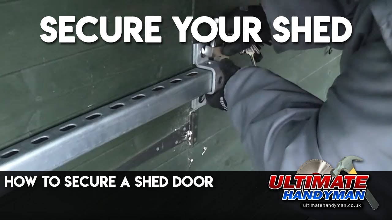diy garage tool storage ideas - How to secure a shed door