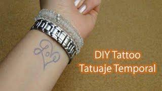 DIY tatuajes temporales personalizados ♥ DIY Custom Temporary Tattoo Thumbnail