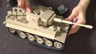 【Cobi】ミリタリーブロック WWIIドイツ軍ティーガーI 作ってみた! 大野萌 検索動画 28
