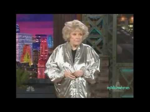 PHYLLIS DILLER @ 89  LAST STANDUP on 'LENO'  R.I.P.