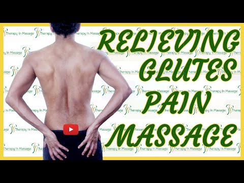 Lower Back and Glutes Male Massage ;Deep Tissue Massage Relieving Lower Back Pain