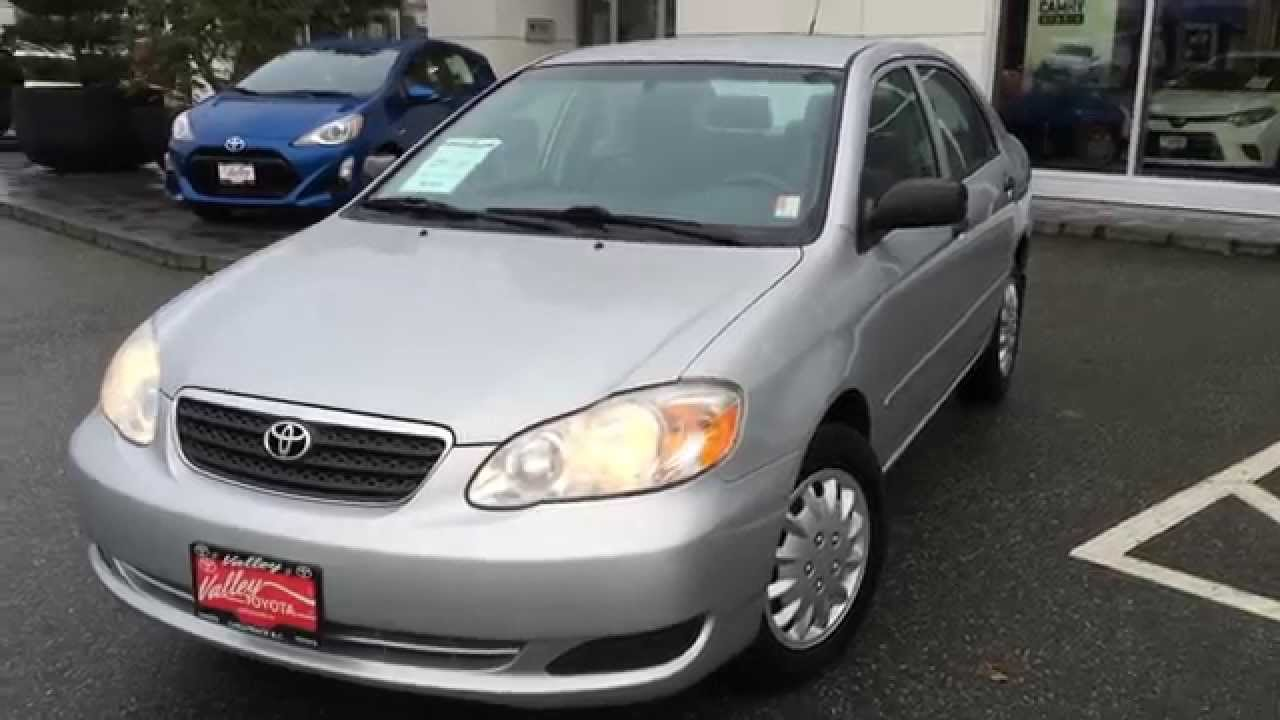 sold 2008 toyota corolla ce preview for sale at valley toyota scion in chilliwack b c. Black Bedroom Furniture Sets. Home Design Ideas