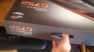 2016 Unboxing My New Asus G752VY-RH71 G-Sync i7-6700HQ GTX 980M 4GB ROG 128GB M.2 SSD - 1TB HDD