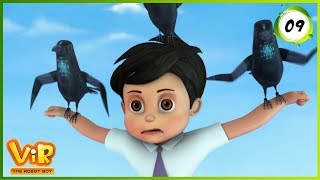 Vir: The Robot Boy | Scare Crow | Action Show for Kids | 3D cartoons