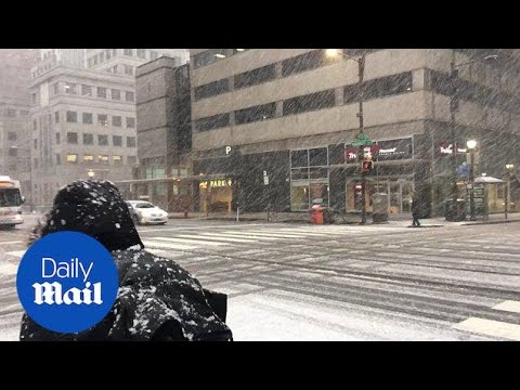 Heavy snowfall batters Philadelphia as second nor'easter hits US - Daily Mail