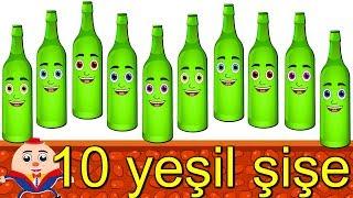 10 yeşil şişe  Çizgi Film Bebek Şarkıları  Balon TV - Çocuk Şarkısı Bir Arada  15 Dakika