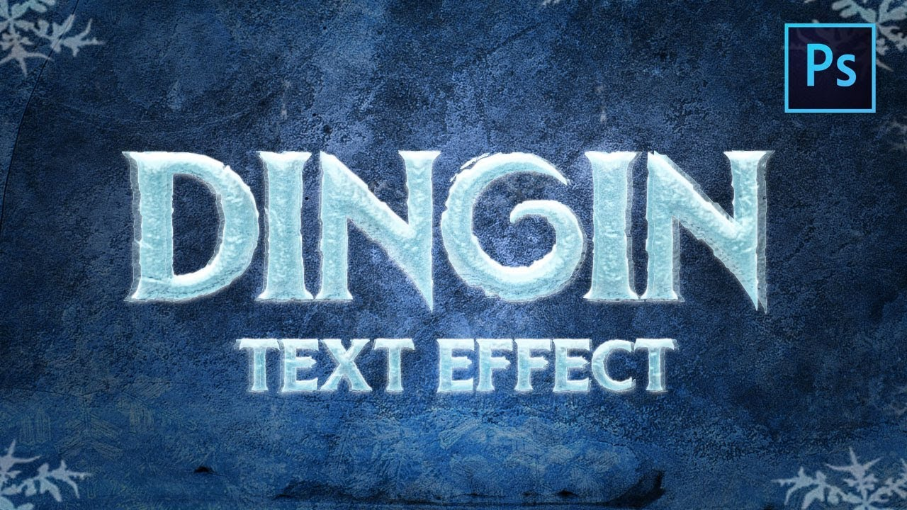 [ Text Effects ] Realistic Ice Effects – Photoshop Tutorial