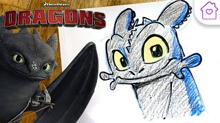 How to Draw TOOTHLESS From HOW TO TRAIN YOUR DRAGON! | #CAMPDREAMWORKS DRAW-ALONG