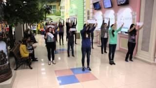 Флешмоб против курения 10 школа г.Бирск. 21.11.2014