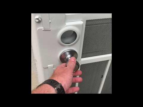 DIY How to Install a Kwikset Door Handle and Deadbolt into Metal Home Security Door Tutorial