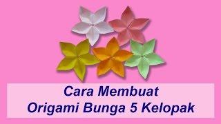 Cara Membuat Origami Bunga 5 Kelopak