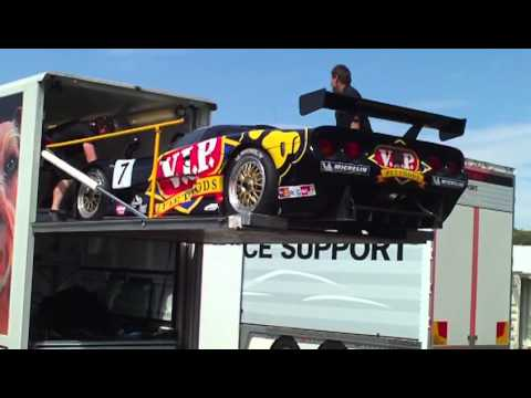 2011 Bathurst 12 Hour - VIP Mosler Getting Lifted Off Truck