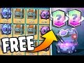 GOT A FREE LEGENDARY!! - Clash Royale New Free Super Magical Chest Opening!