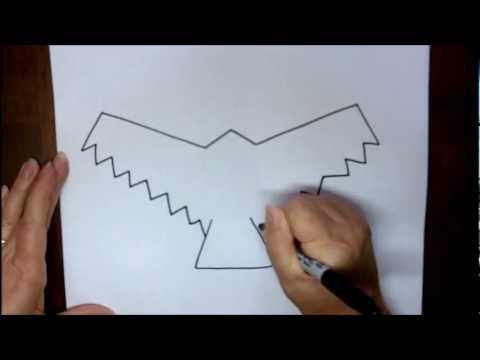 how to draw a hawk outline step by step simple easy drawing lesson with doodleacademy
