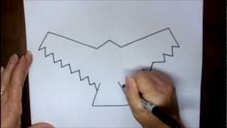How To Draw A Hawk Step By Step Simple Easy Drawing Lesson With Doodleacademy