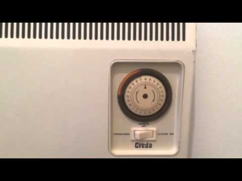 & Creda heater wall mounted timer operation - YouTube