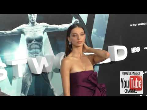 Angela Sarafyan at the HBO Premiere of Westworld at TCL Chinese Theatre in Hollywood