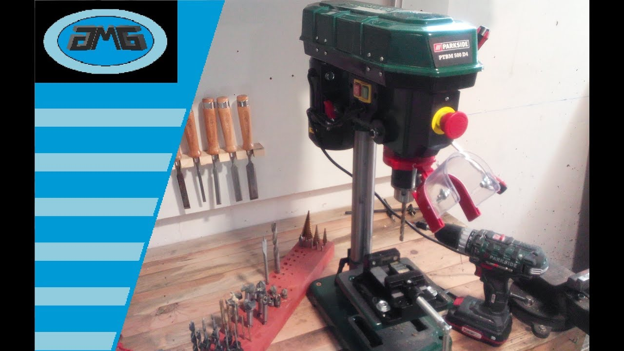 Parkside Bench Pillar Drill Ptbm 500 D4 Perceuse Détabli Trapano A Colonna
