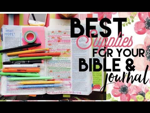 BEST Supplies For Your Bible & Journal - Markers, Pens, & Highlighters!
