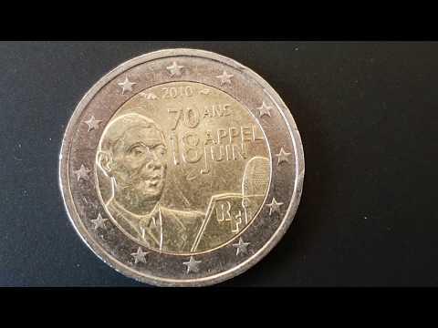 Piece 2 Euros De Gaulle Valeur