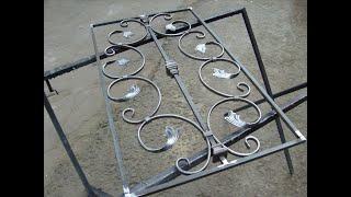 Как сделать узор для ворот, калиток, заборов и ограждений