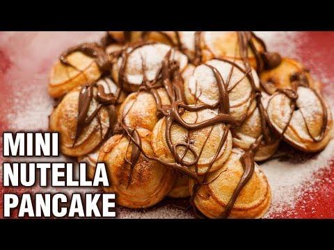 Mini Nutella Pancake Recipe - Homemade Nutella Stuffed Pancakes - Dessert Recipe - Tarika