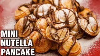 Mini Nutella Pancake Recipe - Homemade Nutella Stuffed Pancakes - Dessert Recipe - Tarika