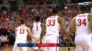 (NCAAM) Penn State Nittany Lions at #13 Ohio State Buckeyes in 40 Minutes (1/25/18)