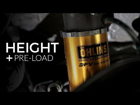 More Height and Pre load Adjustments on Ohlins S2000 Suspension